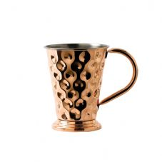 Solid Copper Dented Wide Base Mug with Nickel Lining 48cl 17oz